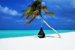 ساحل زیبا در جاذبه های گردشگری مالدیو