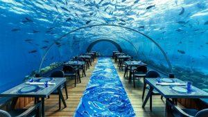رستوران عجیب ITHAA در جاذبه های گردشگری مالدیو