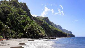 ساحل مارتینیک کارائیب از سواحل سیاه رنگ