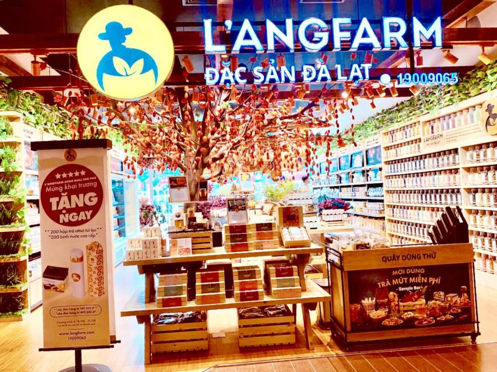 فروشگاه LANGFARM یکی از فروشگاه های دالات ویتنام