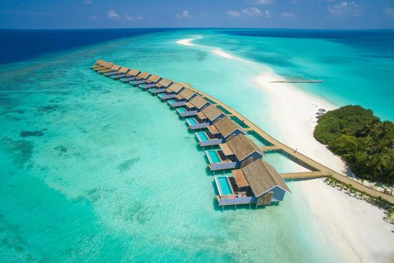 زیبایی اتاقهای روی آب در تور مالدیو