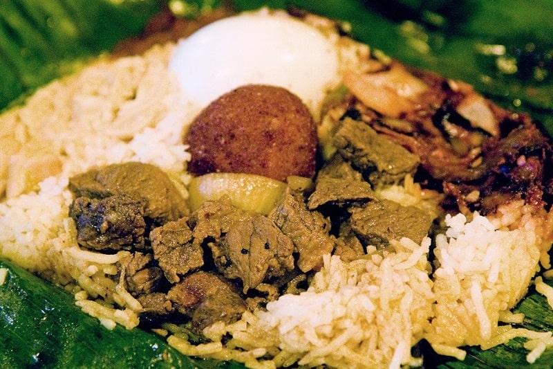 لامپرایس یکی از غذاهای سریلانکا
