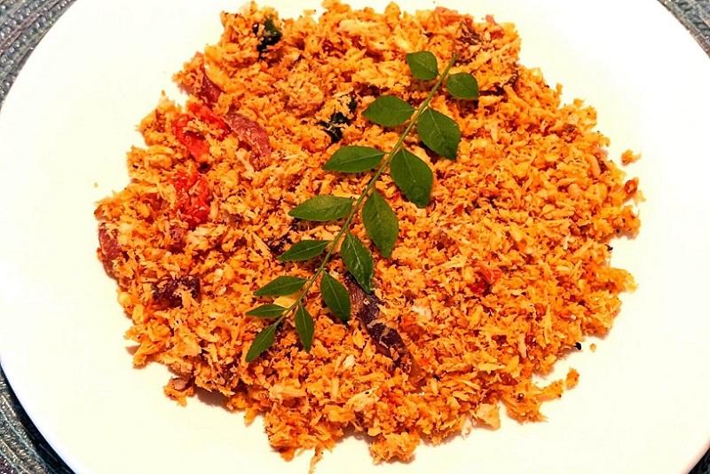 pol sambol یکی از غذاهای سریلانکا